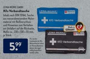 [Aldi Nord & Süd] Leina-Werke GmbH KFZ-Verbandtasche Inhalt nach DIN 13164