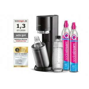 Sodastream DUO Set, 1 Glasflasche, 1 PET-Flasche, 2 Gaszylinder + 15€ cashback