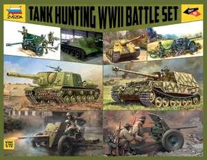 Zvezda 1:72 WWII Battle Set Tank Hunting-Modellbausatz für 30€ (Müller Abholung)