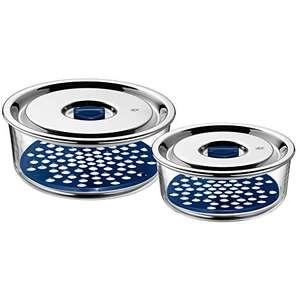 WMF Top Serve Frischhaltedosen Set 2-tlg Glas, mit luftdichtem Deckel, Frischeventil mit Abtropfgitter für 30€ (Amazon & Müller Abholung)