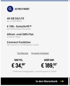 Apple iPhone 13 Mini 128GB / O2 Free M Boost 40GB (100€ RNM Bonus enthalten)