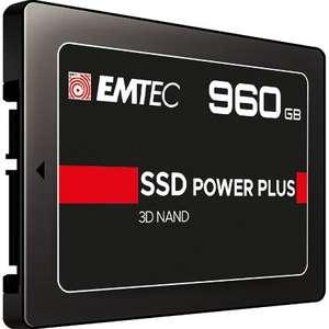 EMTEC 3D NAND Phison 960 GB schwarz interne SSD Festplatte (SATAIII 6 GB/s, 2,5 Zoll (6.3cm))