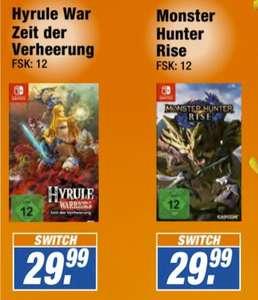 [Lokal Expert Halle(Saale)] Monster Hunter: Rise (Nintendo Switch) oder Hyrule Warriors - Zeit der Verheerung (Switch) für je 29,99€