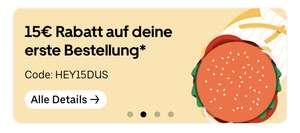 [Lokal Düsseldorf] 15 € Rabatt bei Uber Eats (MBW: 15 €)