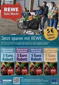 [REWE] 5,00€ Rabatt-Coupons für einen Einkauf bei Rewe ab 40€ bis 02.10. und Woche 04.10. bis 09.10.