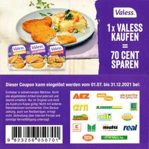 0,70€ Coupon für den Kauf eines Valess Produktes bis 31.12.2021