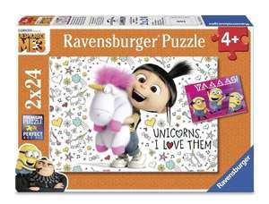 [Kundenkarte] Ravensburger Puzzle Agnes und die Minions (2 x 24) oder Die Schöne und das Biest (100)
