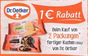 1€ Coupon für 2 Packungen Dr. Oetker fertiger Kuchen 350 g bis 31.12.2021