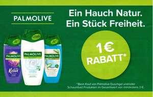 1€ Coupon für 3x Palmolive Duschgel oder Schaumbad bis 31.10.2021
