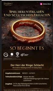 Herr der Ringe Rise to War 5€ Gutschein