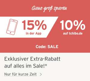 15% auf Tchibo Sale-Sortiment in der App + 8-fach Payback