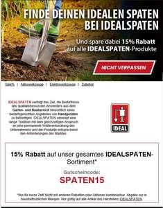 [SVH24] 15% auf alle Produkte von Idealspaten