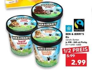[Kaufland offline MoMi] Ben & Jerry's Eis, verschiedene Sorten, lokal z.T für je 2,99€, bundesweit wohl 3,99€ vom 11.10.21 bis 13.10.2021