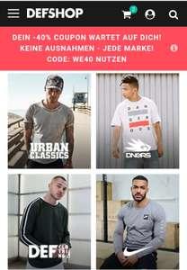 DEFShop 40% auf alle Marken Wie z.B Off White, Palm Angels oder Nike