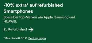 10% auf refurbished Smartphones max. 50€