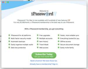 1password Passwort Manager 6 Monate kostenlos ausprobieren