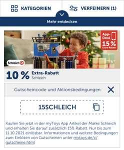 15% Rabatt auf Schleich in der myToys-App