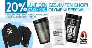 20% Rabatt + 10% auf alle Produkte bei Gigas Nutrition
