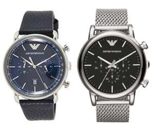 Emporio Armani Herren Chronograph AR11105 / Chronograph AR1808 für je 99,90€ (Juwelier Dringo)