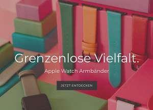Armbänder und Zubehör für Apple Watch bei Bandoora mit 50% Rabatt und kostenlosem Versand ab 40 Euro Warenwert