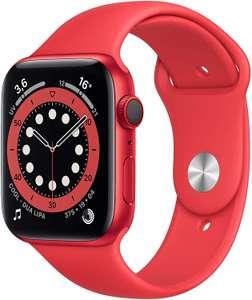 Apple Watch Series 6 GPS + Cellular (44 mm, Aluminiumgehäuse, Sportarmband, Retina Display, Sauerstoffgehalt, Herzrhythmus) Product(RED)