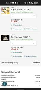 Lego 21056 Architecture Taj Mahal + 71373 Super Mario Baumeister Anzug (Kundenkarte)