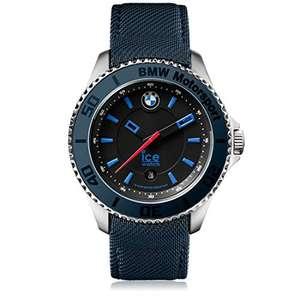 Ice Watch BMW Herrenuhr - marineblau Lederarmband Quarz sportlich