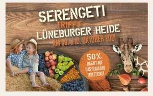 50% Rabatt auf Tageskarten im Serengeti Park Hodenhagen