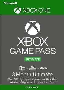 3 Monate Xbox Game Pass Ultimate (Xbox One/PC) für 16,69€ (CDKeys VPN TR)