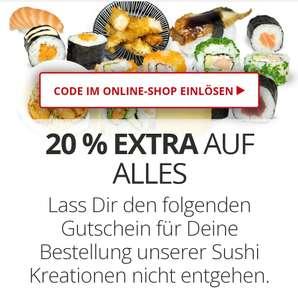 Sushifreunde 20% Rabatt* auf Online Bestellungen