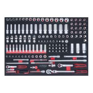 """KS Tools SCS 1/4""""+3/8"""" Steckschlüssel-Satz, 136-teilig, in 1/1 Systemeinlage"""
