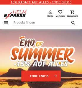15% Rabatt bei HELMEXPRESS.com