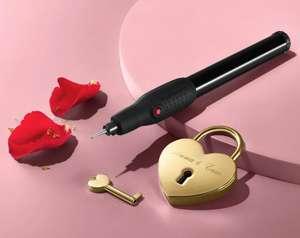 Liebesschloss mit Gravierstift