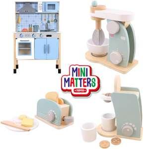 """Kinderküchen-Zubehör: """"Mini Matters"""" Spielzeug aus Holz (Sets mit Toaster, Mixer oder Kapselmaschine) …"""