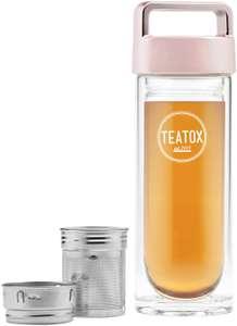 Teatox Thermo-GO Bottle 330ml to Go Teeflasche mit herausnehmbaren Siebeinsatz + Alnatura Bio Linsenwaffeln für 20€ (Müller Abholung)