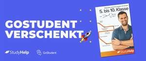 Gostudent kostenloses Lernheft für Klasse 5 bis 10 - limitiert auf 1000 Stk. pro Ausgabe