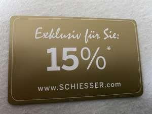 15% Gutschein - Schiesser.de