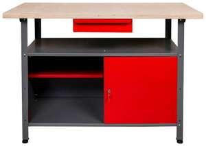 Kreher Werkbank, B/T/H: 120x60x85 cm, 35 kg, 1x Schublade, 1x Tür, 1x Ablage