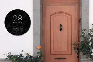 72% Rabatt auf Aluminium Hausnummernschilder zum Selbstgestalten (rund oder quadratisch, verschiedene Größen) - z.B. quadratisch 30x30 cm