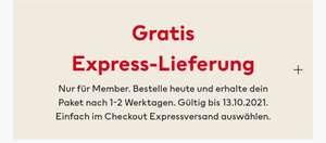 [H&M] Gratis Express Lieferung für Member