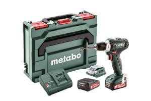 Metabo Akku Bohrschrauber BS 12 | 2x Akku 2,0Ah + Akku Adapter LED + metaBOX 118
