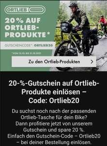 20% auf Ortlieb-Produkte mit kostenlosem Versand ab 49€