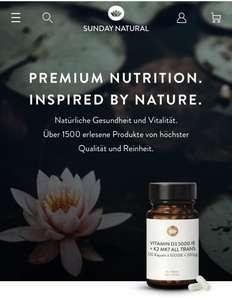 10% Rabatt auf nahezu Alles bei Sunday Natural Tee, Vitamine, Nahrungsergänzung, Superfoods etc.