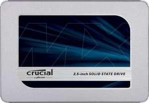 "Crucial MX500 500GB 2,5"" SSD (3D TLC, 512MB DRAM, AES, 5 Jahre Garantie)"