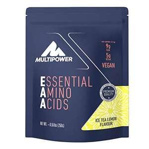 [ Amazon Prime ABO ] 250g EAA Multipower Pulver Essential Amino Acids, Sportgetränk mit essentiellen Aminosäuren sowie Vitamin C und B6