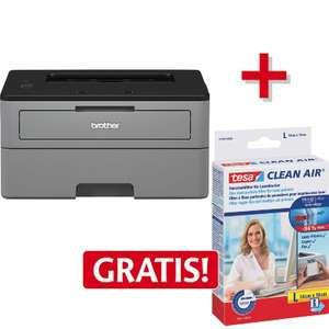 AKTION! Brother S/W Laserdrucker HL-L2310D + tesa® CLEAN AIR® Feinstaubfilter L inkl. Filterhalter GRATIS - ca. 94€ Nettopreis
