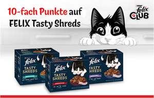 10-Fach Punkte auf Felix Tasty Shreds