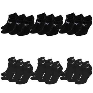18 Paar Socken: 9 Paar Puma Quarter & 9 Paar Puma Sneakersocken (1,56€ pro Paar)