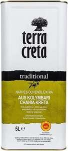 Terra Creta Extra Natives Olivenöl 5 l, durch 5er Sparabo für 25,64€ - Prime *Sparabo*