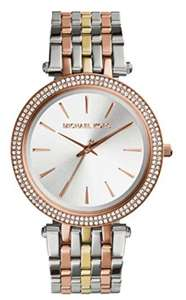 MICHAEL KORS Damen Analog Quarz Uhr mit Edelstahl Armband MK3203, Versandkostenfrei